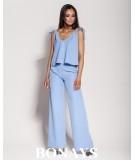 Eleganckie spodnie Gubbi - niebieskie