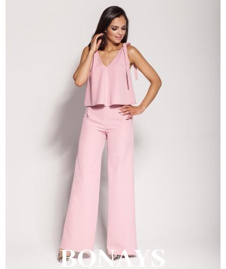 Eleganckie spodnie Gubbi - jasny róż