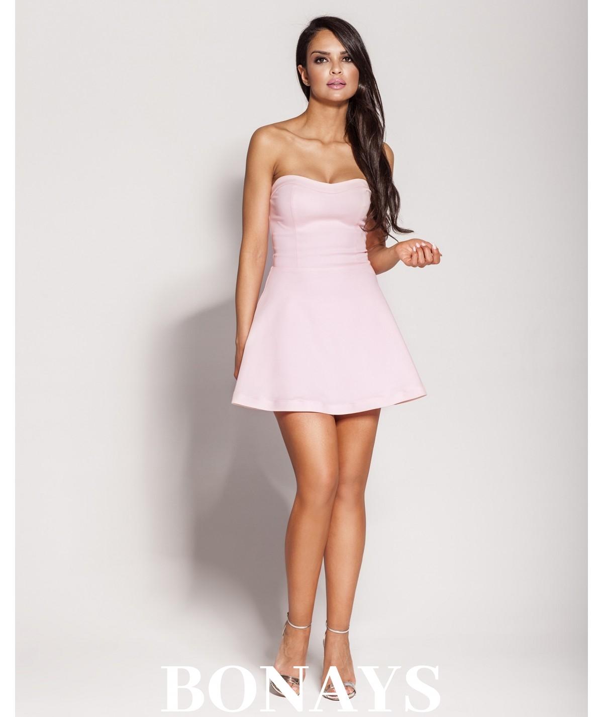 Gorsetowa sukienka Fabi -różowa