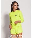 Wygodna bluza ze ściągaczami TODI - limonkowa