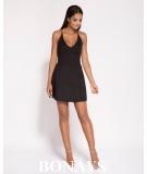 krótka sukienka - dekolt na plecach - Amelia czarna
