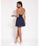 krótka sukienka - dekolt na plecach - Amelia granatowa