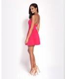 rozkloszowana malinowa sukienka dursi