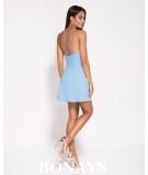rozkloszowana sukienka niebieska dursi