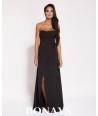 Długa, czarna suknia Lorica - dursi