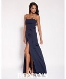 Sukienka MAXI - Lorica -bez ramiączek Granatowa