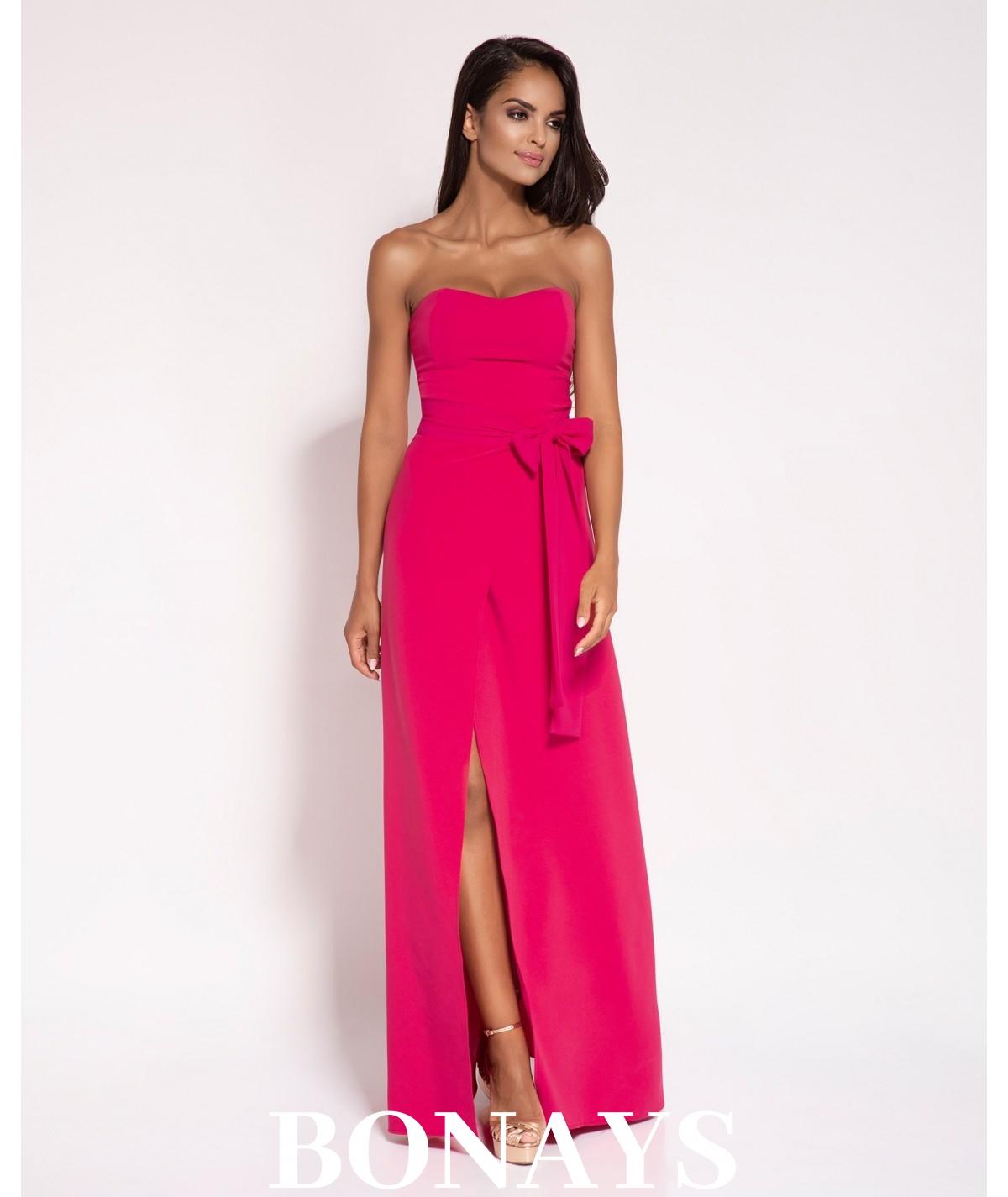 Długa suknia malinowa Lorica - Dursi