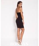 Czarna dopasowana sukienka mini Dursi - mała czarna