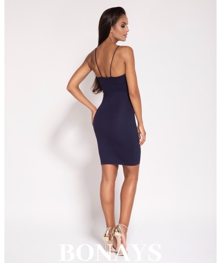 Dopasowana seksowna sukienka granatowa Dursi