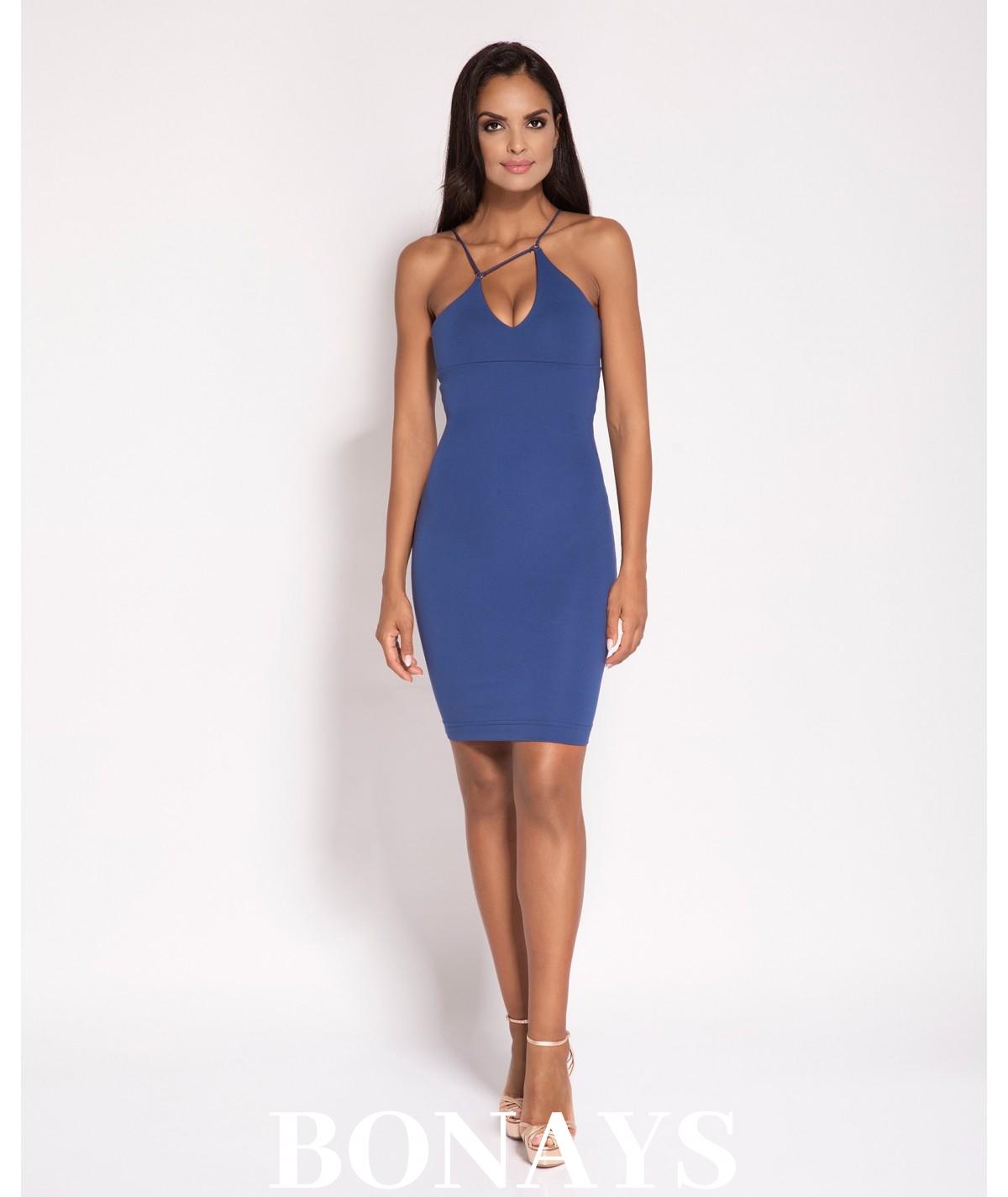 Dopasowana sukienka Sila - niebieska