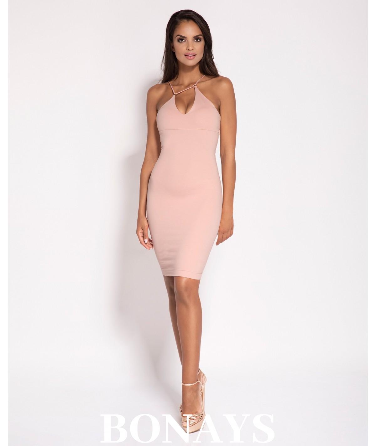 Różowa seksowna sukienka damska Sila - Dursi