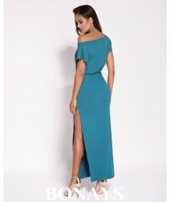 Morska sukienka maxi - dursi