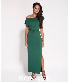 Sukienka MAXI butelkowa zieleń
