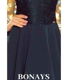 Zielona koronkowa sukienka - numoco