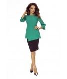 elegancka zielona bluzka ze stójką Bergamo
