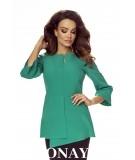 Elegancka bluzka SILVIA - zielona