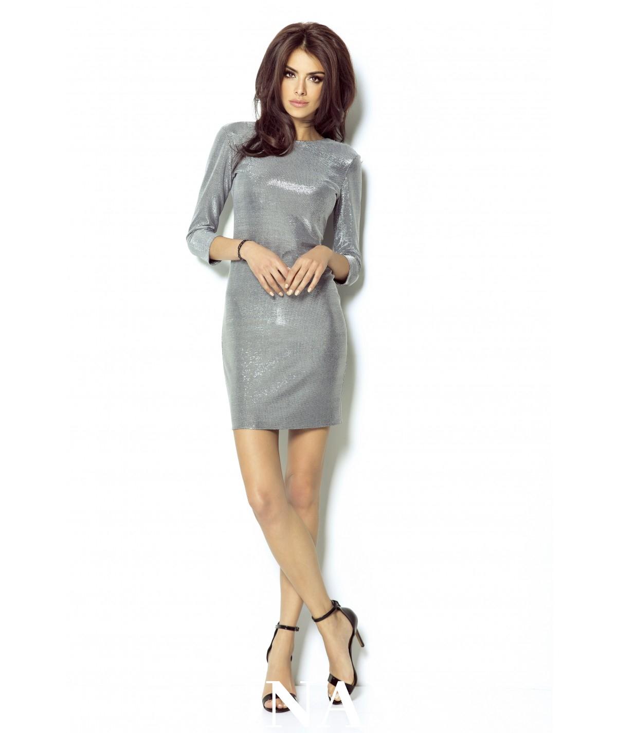 Sukienka na karnawał - Cleo - srebrna