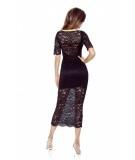 60 01ERICA ? koronkowa sukienka z głębszym dekoltem eksponującym plecy (czarny)
