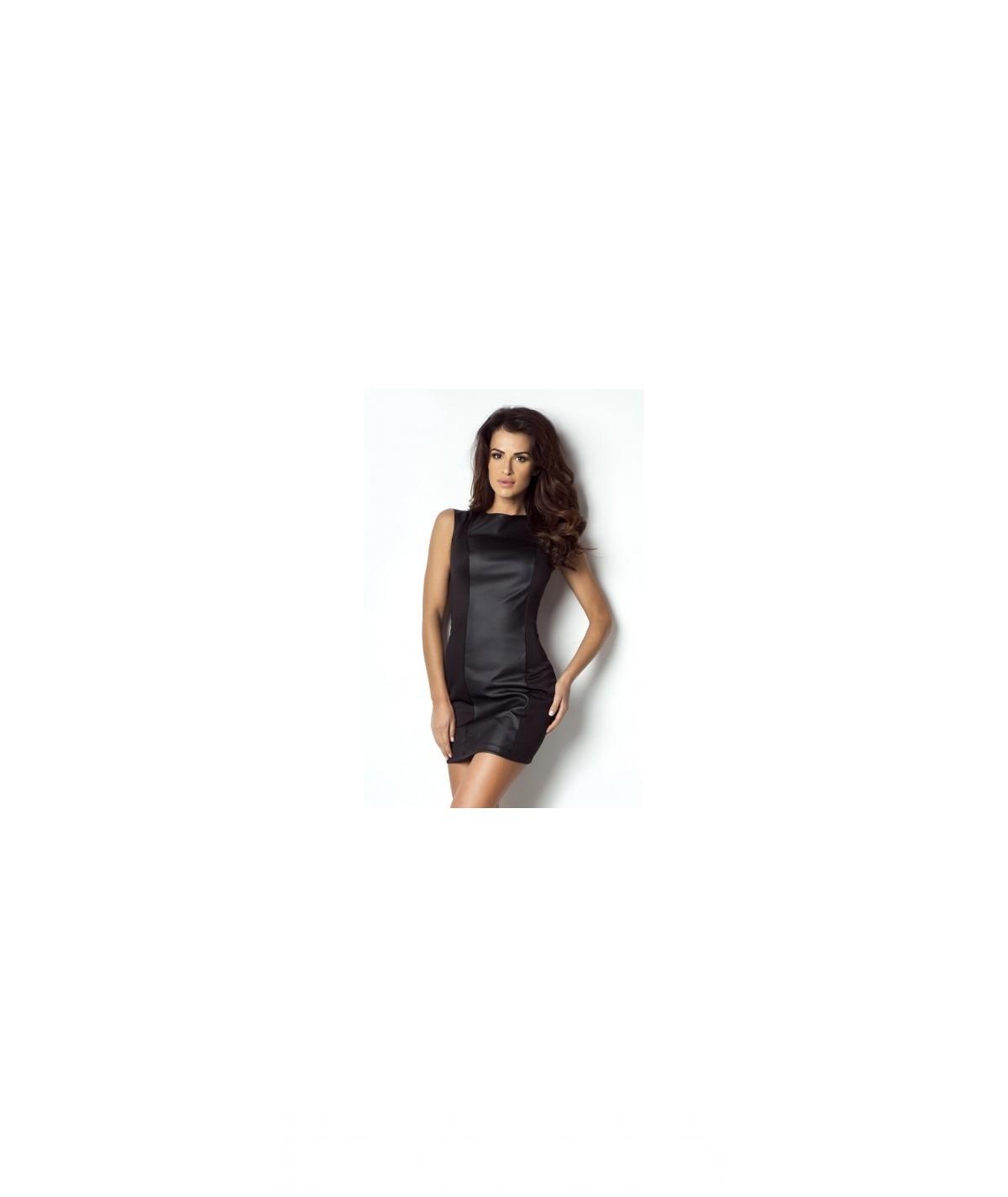 Sukienka z eko-skóry czarna - Blake