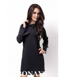 trapezowa sukienka biznesowa
