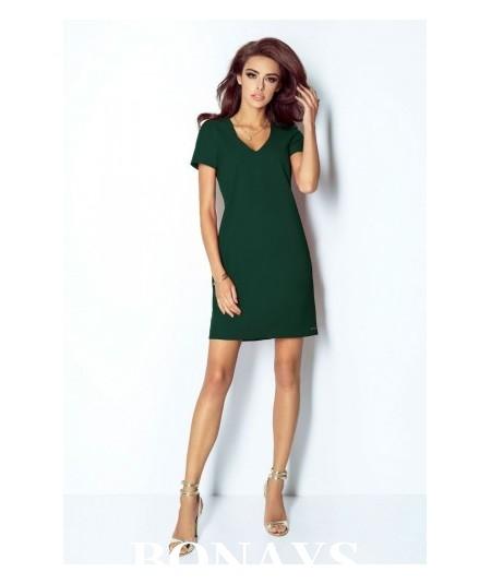 Trapezowa sukienka Matilda - butelkowa zieleń