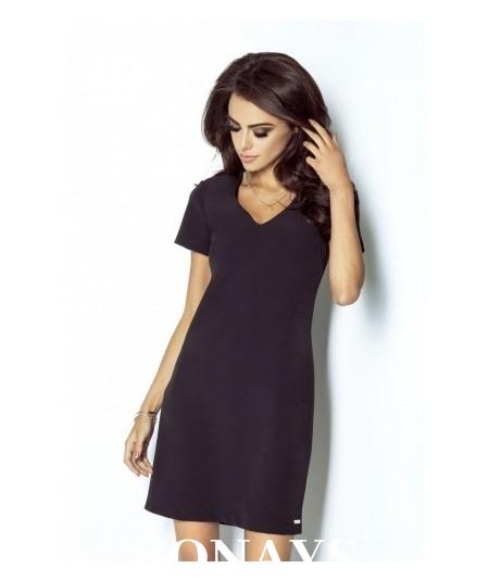 Trapezowa sukienka Matilda - czarna