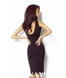 Dopasowana sukienka Linda - czarna