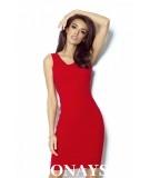 Dopasowana sukienka Linda - czerwony