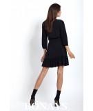 luźna sukienka z falbanką - czarna