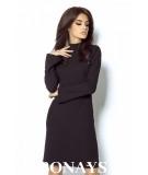 Czarna trapezowa sukienka Giselle marki IVON