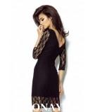 dopasowana sukienka z koronki karla - black