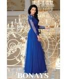 Chabrowa sukienka maxi na studniówke bicotone 2167