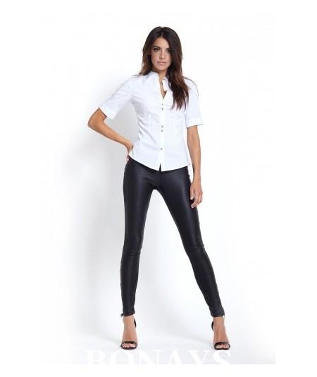 Czarne legginsy damskie z ekoskóry Irma