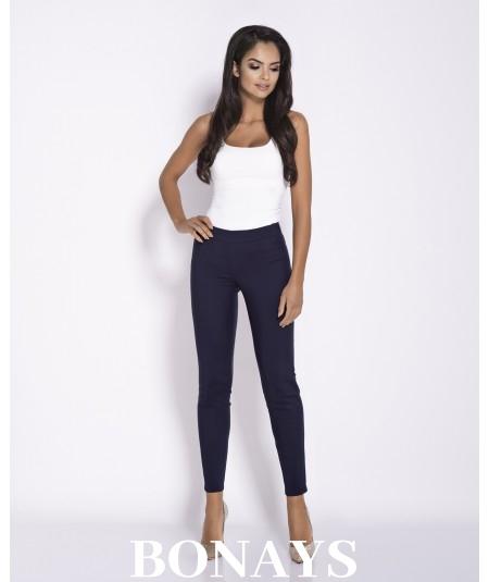 Eleganckie, wygodne spodnie długie damskie - Conon granat