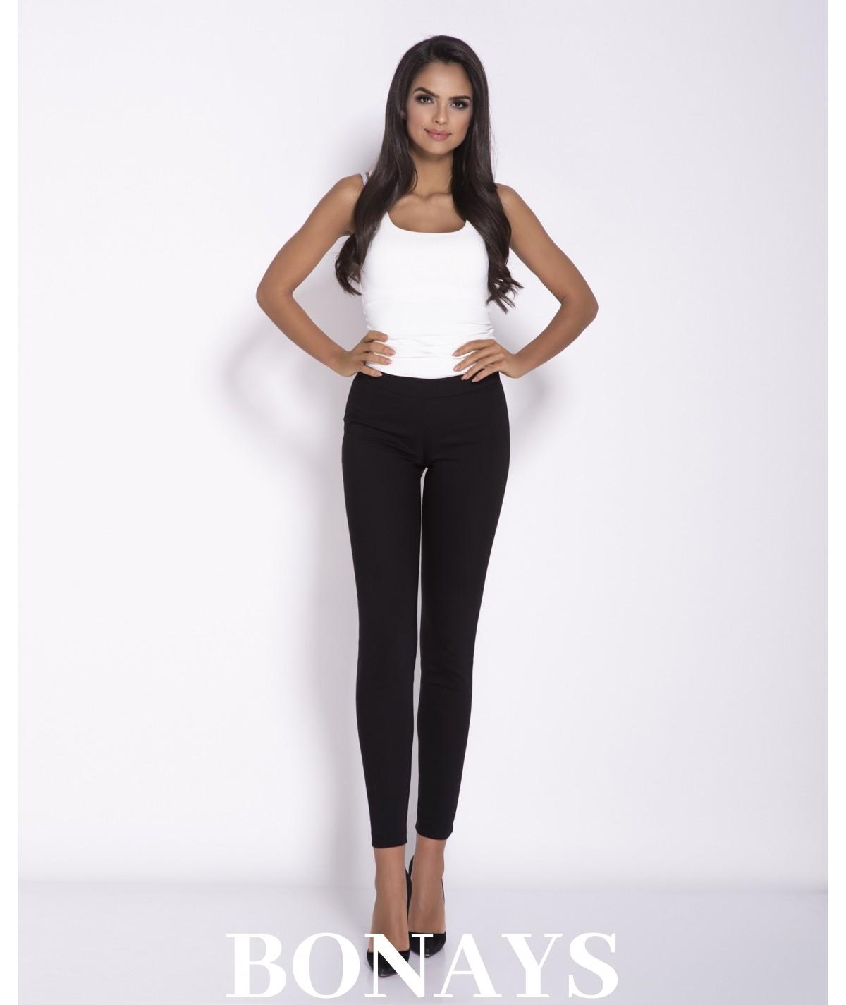 Eleganckie, wygodne spodnie długie damskie - Conon oliwkowe