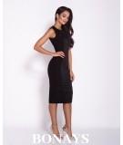 czarna dopasowana sukienka biznesowa dursi