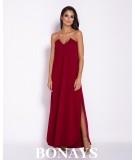 Długa, elegancka sukienka na łańcuszku Inez - niebieska