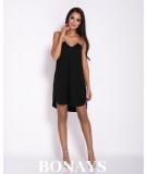 Sukienka na łańcuszku Ellen - oversizowa Czarna