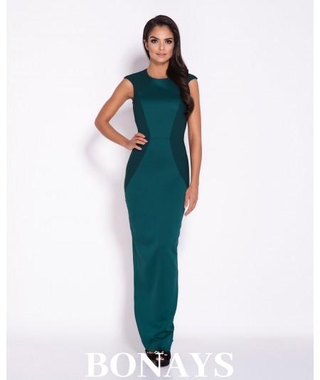 Zielona dopasowana sukienka maxi Dursi