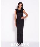 Czarna długa suknia na studniówkę Dursi