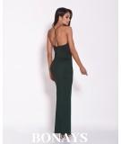 Zielona sukienka maxi na wesele - dursi