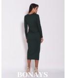 Dopasowana sukienki MIDi - malaga zielona