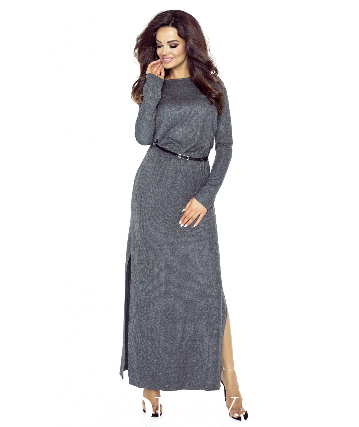 Sukienka maxi z koronkowym tyłem sukienki bergamo
