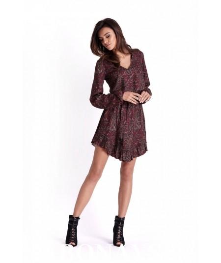 Sukienka w stylu boho - Masha - bordo