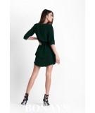 sukienka w stylu boho - sukienka z dekoltem, czarna sukienka