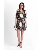 Rozkloszowana sukienka o kopertowym fasonie MARINE