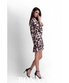Oversizowa sukienka w zwierzęcy wzór. Dorita - panterka