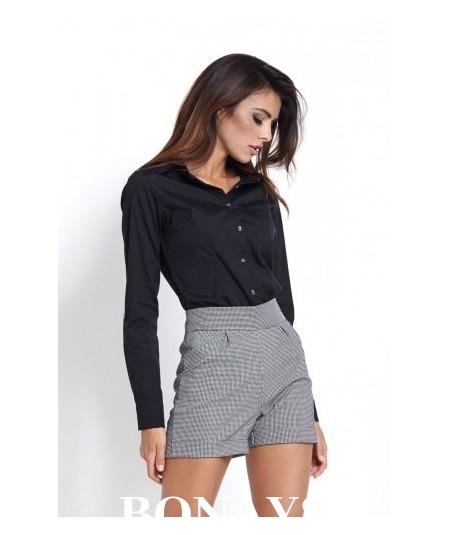 Klasyczna bawełniana koszula damska czarna