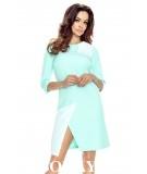 Biznesowa sukienka dwukolorowa - daria