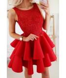 Koktajlowa sukienka z falbankami - Bicotone model 2175